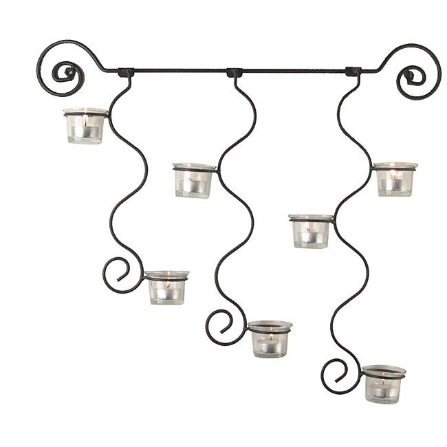 shop curly candle holder wall sconce