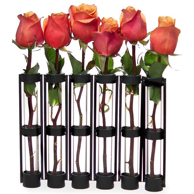 "DANYA B. Six-tube Hinged Vase, Black, Size Medium 8""-15"" ..."