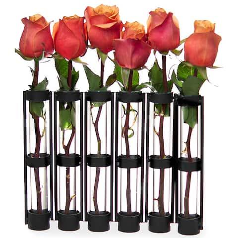 Six-tube Hinged Vase