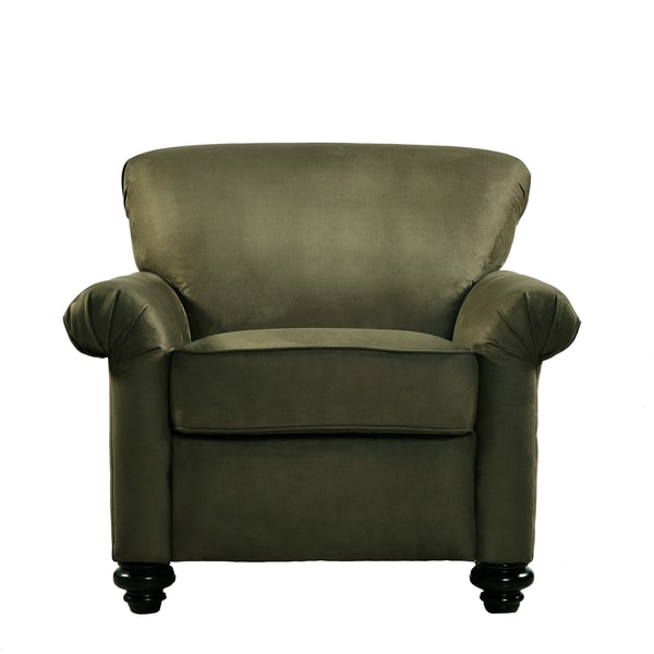 Handy Living Capri Moss Green Microfiber Arm Chair And Ottoman   Free  Shipping Today   Overstock.com   11384329