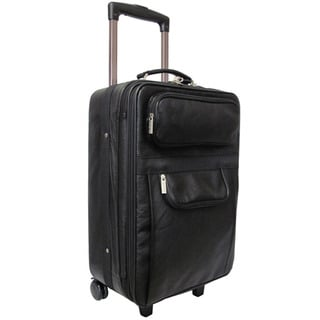 Amerileather 23-inch Leather Carry On Expandable Upright