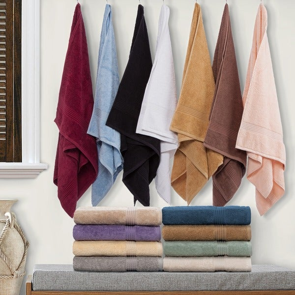 Superior Collection Luxurious 100-percent Premium Long-staple Combed Cotton 6-piece Towel Set