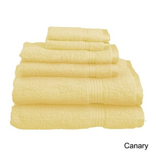 Superior Plush Absorbent 600 GSM Combed Cotton 6-piece Towel Set (Option: Canary)