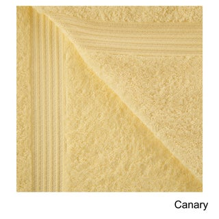 Superior Plush & Absorbent 600 GSM Combed Cotton Bath Sheet (Set of 2) (Option: Canary)