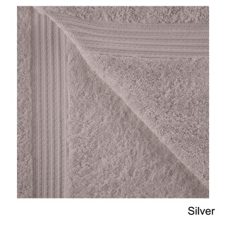 Superior Plush & Absorbent 600 GSM Combed Cotton Bath Sheet (Set of 2) (Option: Silver)