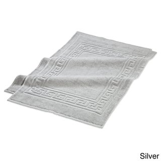 Superior Plush & Absorbent 600 GSM Combed Cotton Bath Mat (Set of 2) (Option: Silver)