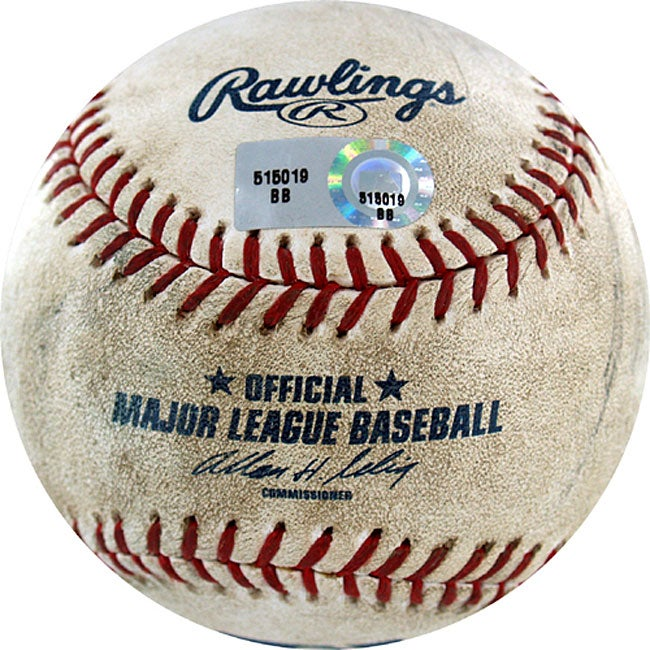 Astros at Dodgers Game-used Baseball 8/14/2007