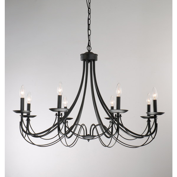 The Gray Barn Calloway Hill Iron 8light Black Chandelier Free