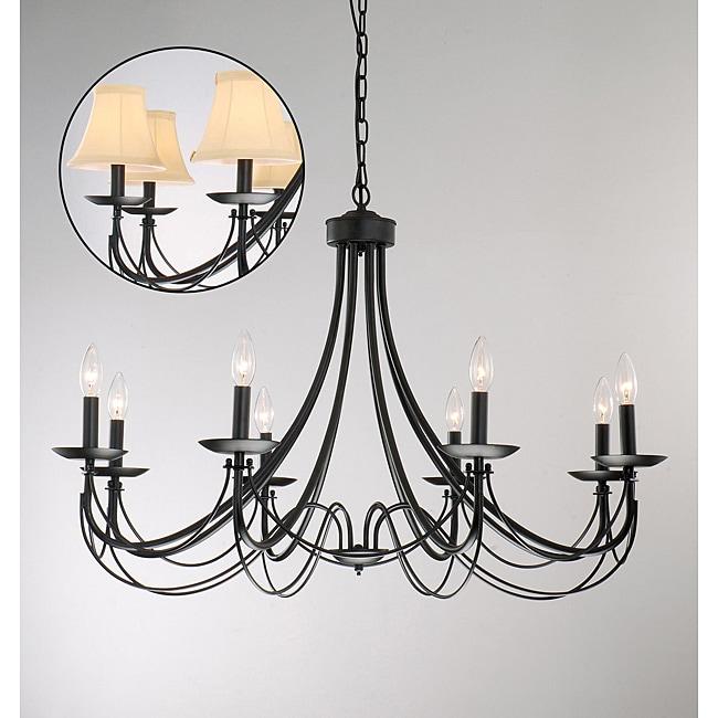 Chandelier Iron: Iron 8-light Black Chandelier,Lighting