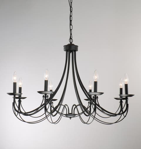 Buy fluorescent ceiling lights online at overstock our best the gray barn calloway hill iron 8 light black chandelier aloadofball Gallery