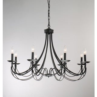 The Gray Barn Calloway Hill Iron 8-light Black Chandelier