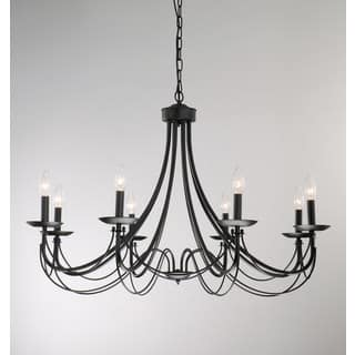 Metal ceiling lights for less overstock the gray barn calloway hill iron 8 light black chandelier aloadofball Gallery
