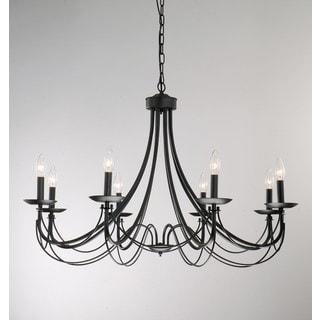 iron 8light black chandelier