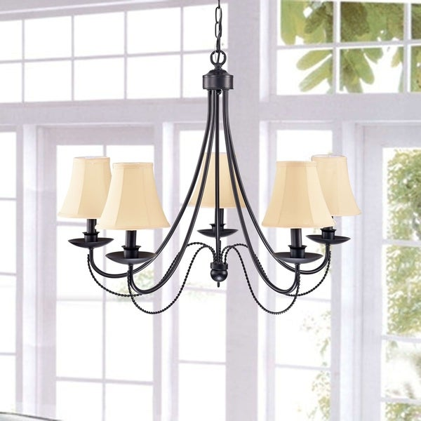 Iron 5-light Black Chandelier