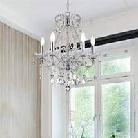 The LIghting Store Chrome-finished Iron/Crystal 5-light Chandelier