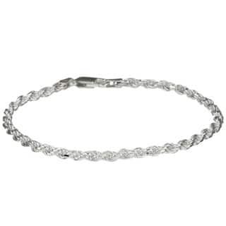 Sterling Essentials Sterling Silver 7-inch Diamond-Cut Rope Chain Bracelet (2.5mm)|https://ak1.ostkcdn.com/images/products/3289020/P11390408.jpg?impolicy=medium