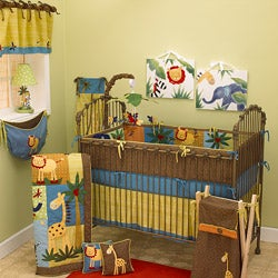 Cotton Tale Paradise Machine-Washable 4-piece Crib Bedding Set