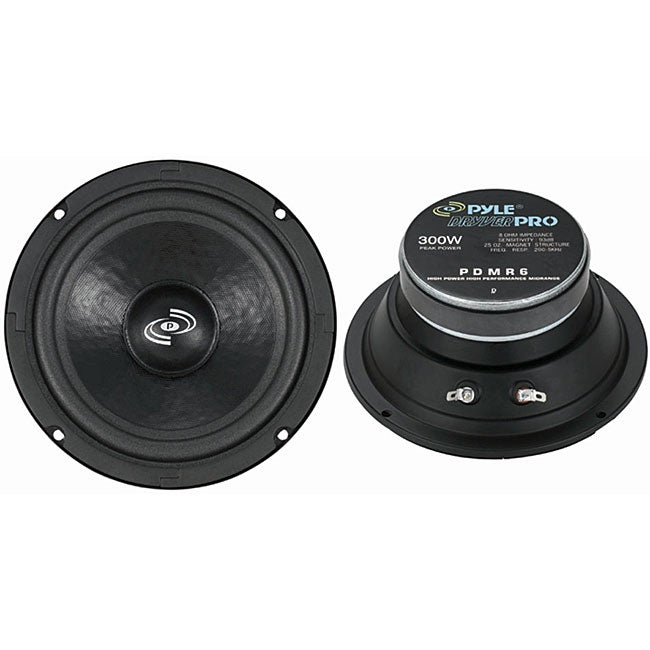 Pyle Pro PDMR6 6.5-inch High-power Midrange Speakers (Pyl...