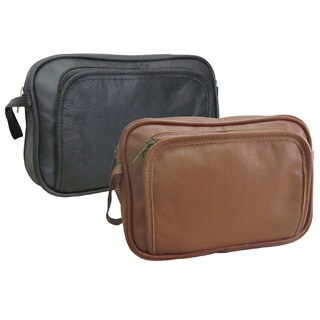 Amerileather Genuine Top Grain Cowhide Leather Travel Toiletry Bag