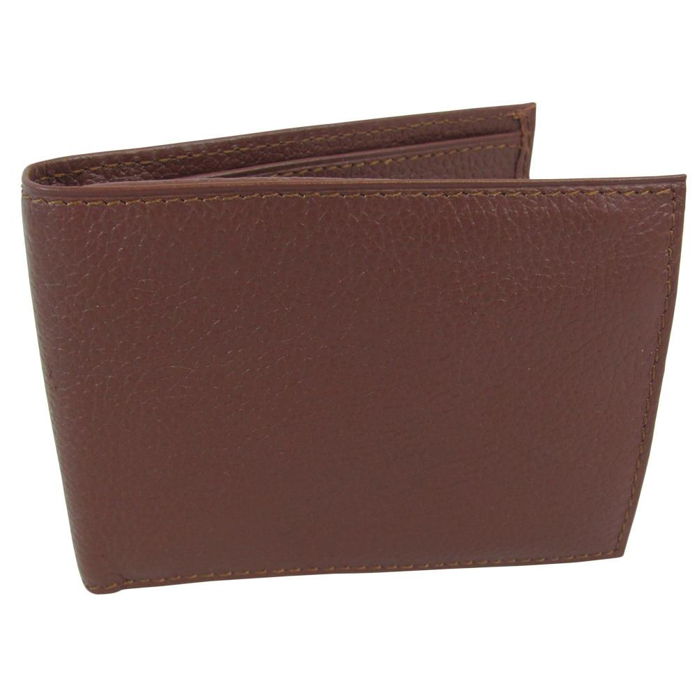 Amerileather Men's Leather Bi-fold Wallet (Brown), Size O...