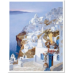 Hava 'Greece' Framed Canvas Art