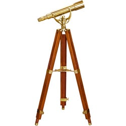 50mm Brass SpyScope with Mahogany Tripod