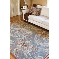 Hand-Knotted Legacy Collection Floral Wool Area Rug (8' x 10')