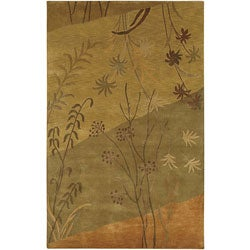 Hand-knotted Soldeu Collection Wool Area Rug (9' x 13') - 9' x 13' - Thumbnail 0