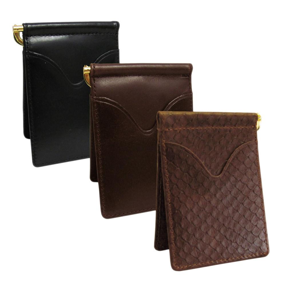 Amerileather Leather Money Clip (Black), Adult Unisex