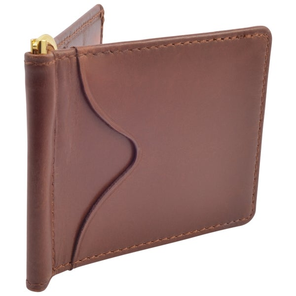 Brown Men/'s Wallet NEW AmeriLeather Leather Money Clip