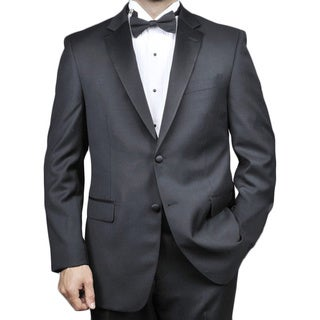 Red Labeled Men's 2-button Black Wool Tuxedo (Option: 42l)