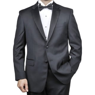 Red LabeledMen's 2-button Black Wool Tuxedo