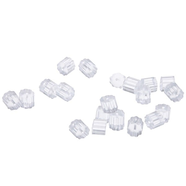 Beadaholique Clear Safety Backs For Hook Earrings (Set of 100)