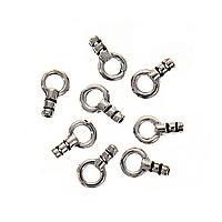 Beadaholique Sterling Silver Beading Chain End Crimp Cap (Set of 4)