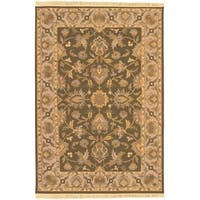 Hand-knotted Soumek Wool Area Rug - 6' x 9'