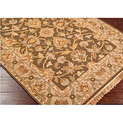 Hand-knotted Soumek Wool Rug (8' x 10') - Thumbnail 2