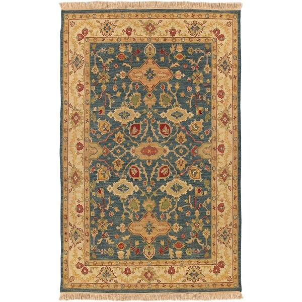Hand-knotted Sangli Collection Wool Area Rug - 9' x 12'