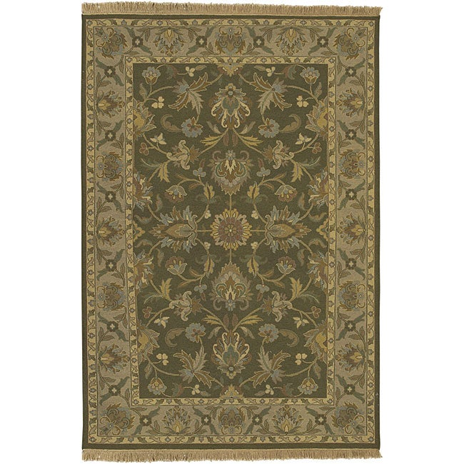 Hand-knotted Soumek Wool Rug (9' x 12')