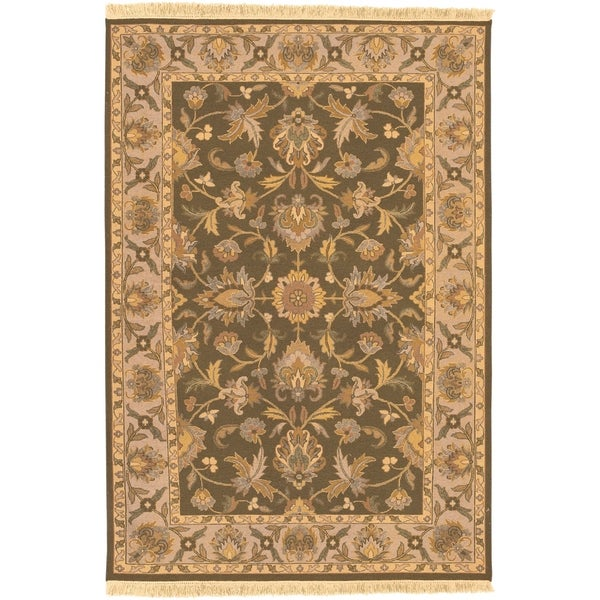 Hand-knotted Soumek Wool Area Rug - 9' x 12'