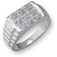 Simon Frank Collection Men's Watchband-style Ring