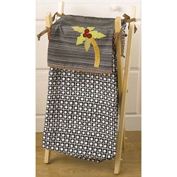 Cotton Tale Pirates Cove Black/White Natural-stained Wood Frame Hamper