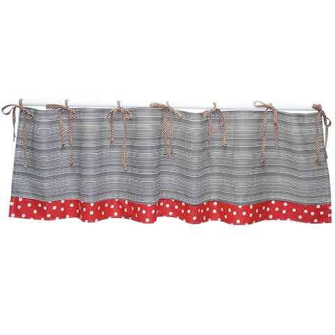 Stripes and Polka Dots Valance Pirate's Cove Collection