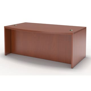 Mayline Aberdeen 66-inch Cherry Bow Front Desk Shell