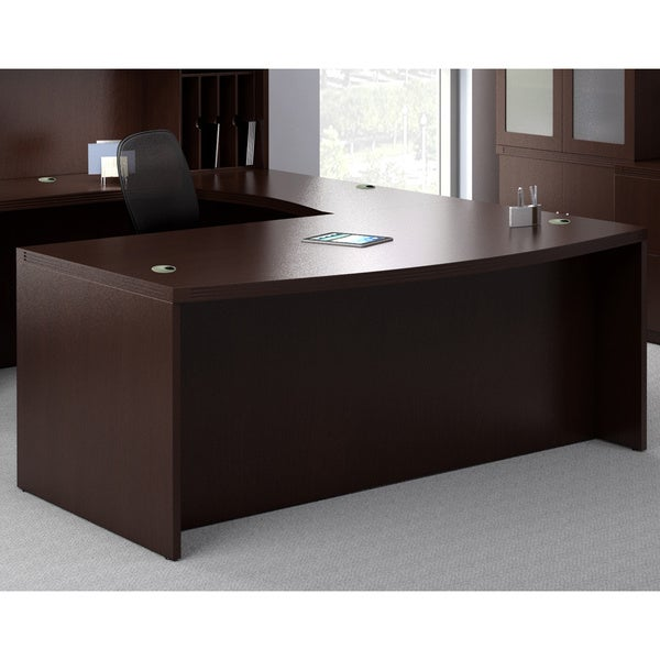 Mayline Aberdeen 66 Inch Laminate Bow Front Desk Shell