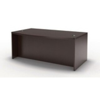"""Mayline Aberdeen 66"""" Bow Front Desk with Modesty Panel"""