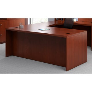 Mayline Aberdeen 72-inch Cherry Straight Desk Shell