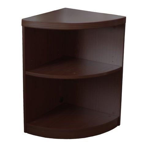 Mayline Aberdeen Quarter Round Corner Bookcase, 2 Shelf