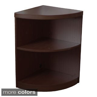Mayline Aberdeen Quarter Round Corner Bookcase, 2 Shelf