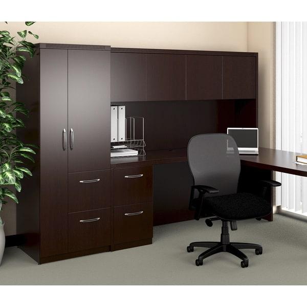 Mayline Aberdeen Mocha Personal Storage Cabinet - Free Shipping ...