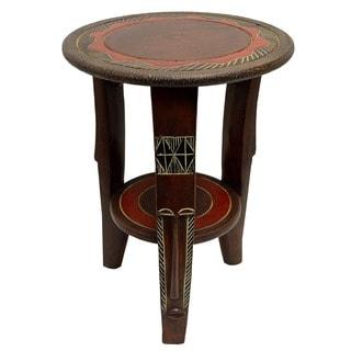 Handmade Round Fanti Leg Table (Ghana)